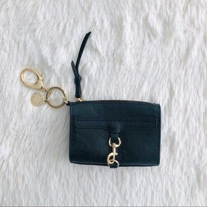 Rebecca Minkoff Black Leather MAC Keychain Fob